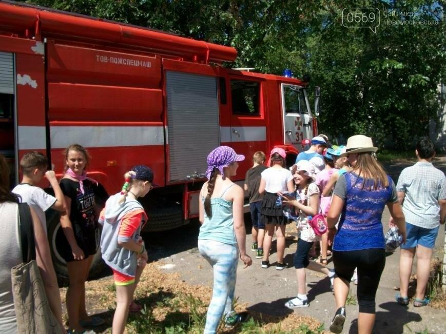 Новомосковские школьники побывали в гостях у спасателей      , фото-4