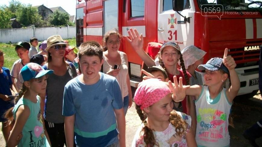Новомосковские школьники побывали в гостях у спасателей      , фото-2