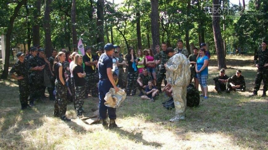 В Новомосковском районе участники областного этапа игры «Сокол» тушили пожар, фото-4