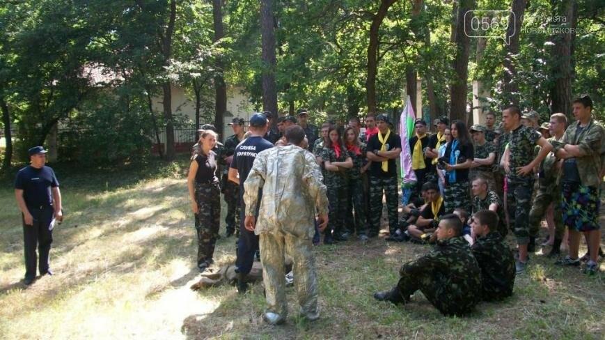 В Новомосковском районе участники областного этапа игры «Сокол» тушили пожар, фото-5
