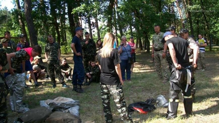 В Новомосковском районе участники областного этапа игры «Сокол» тушили пожар, фото-6