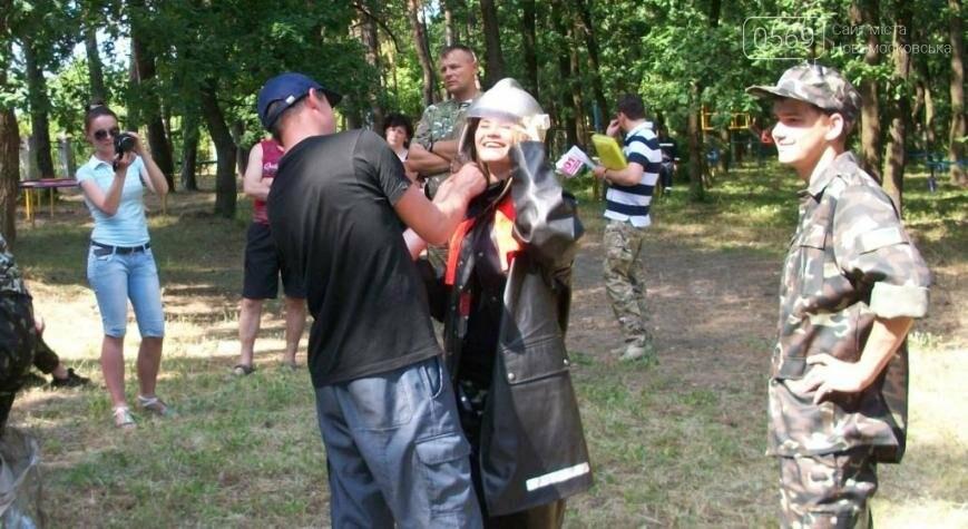 В Новомосковском районе участники областного этапа игры «Сокол» тушили пожар, фото-1