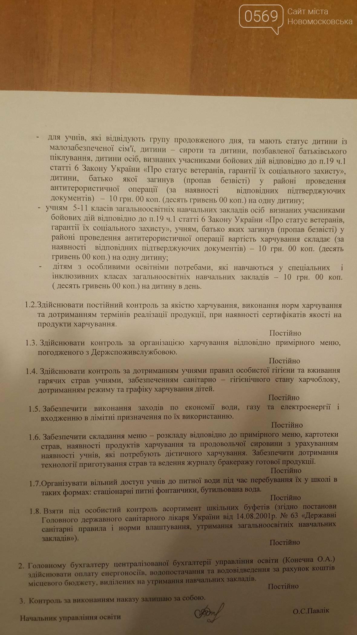Кто и за сколько кормит школьников Новомосковска, фото-2