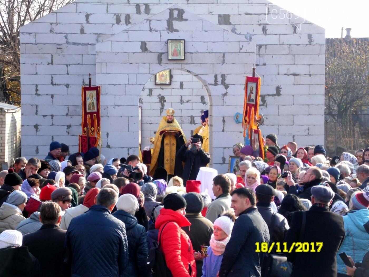 В Новомосковске заложили капсулу в основание нового храма, фото-6