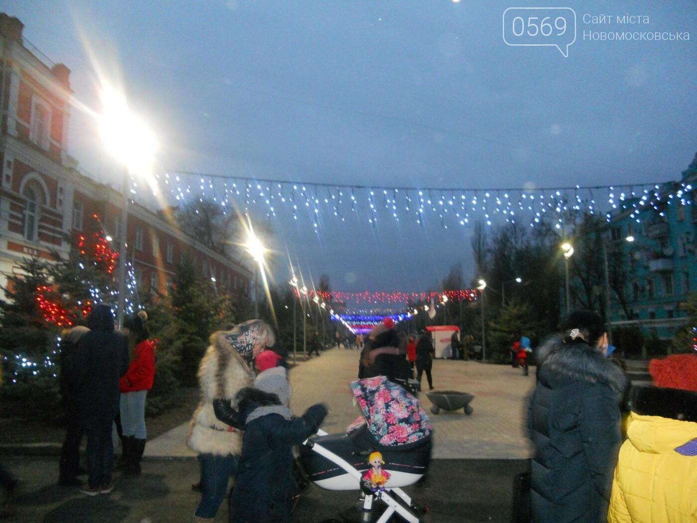 В Новомосковську урочисто відкрили міську ялинку, фото-3