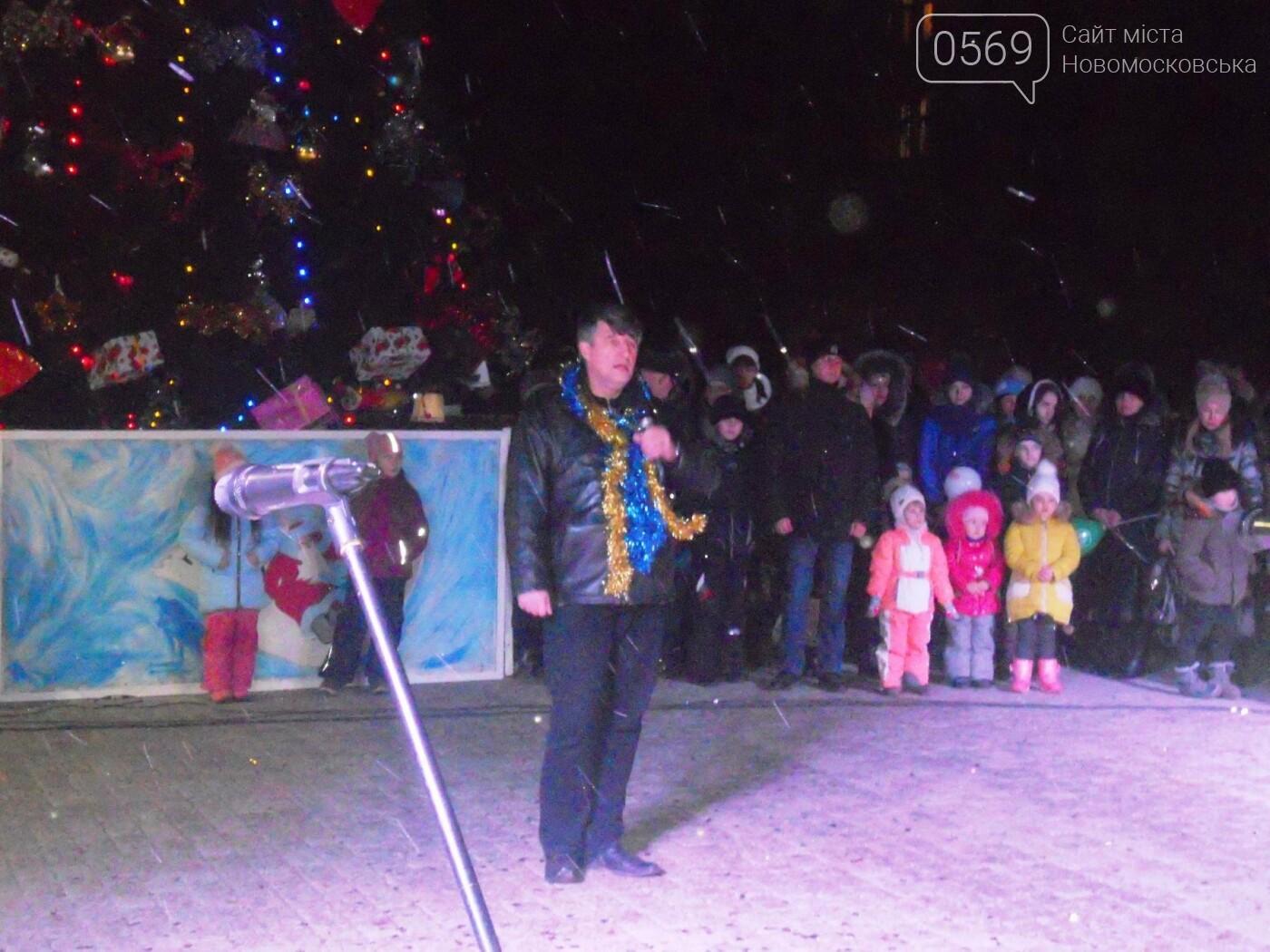 В Новомосковську урочисто відкрили міську ялинку, фото-15