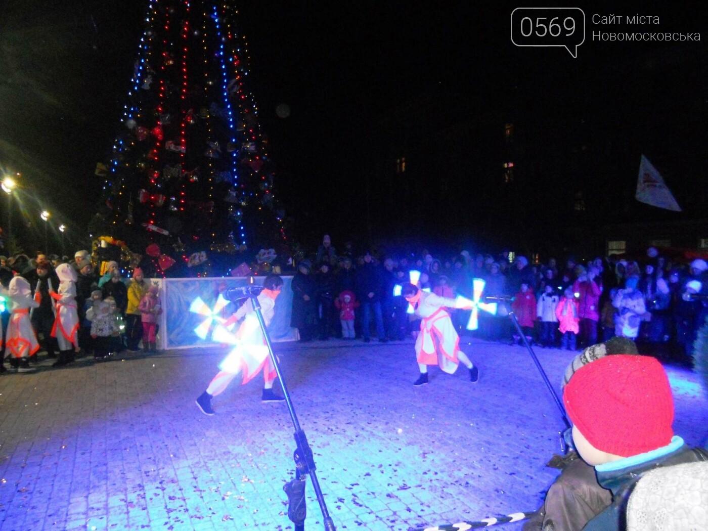 В Новомосковську урочисто відкрили міську ялинку, фото-17