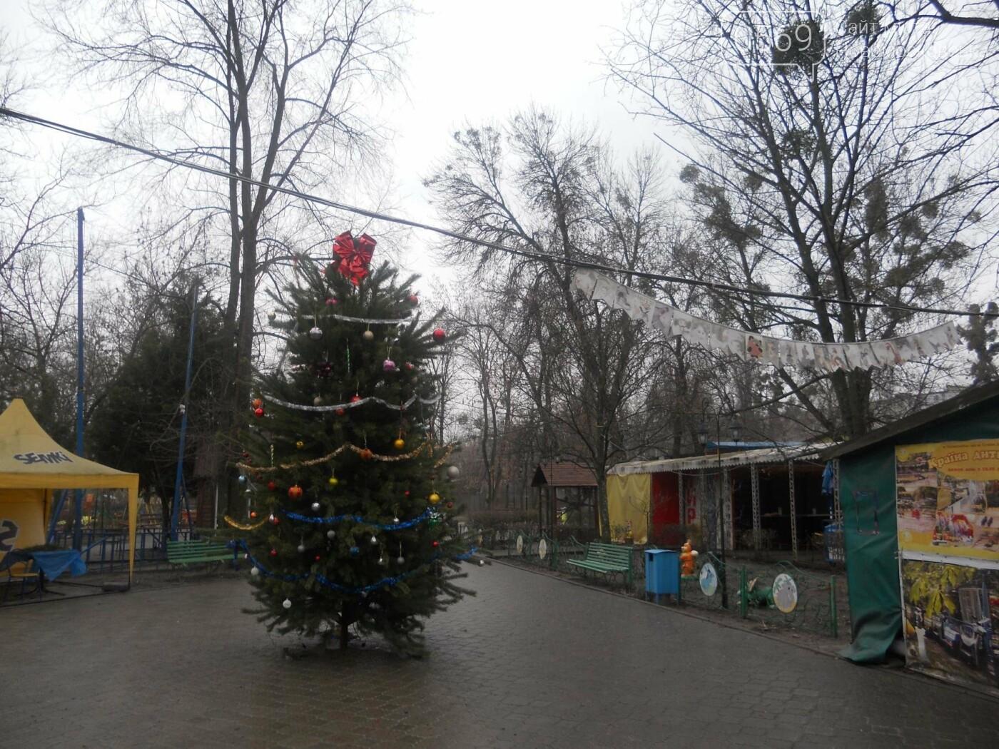 В детском парке Новомосковска установили елку, фото-1