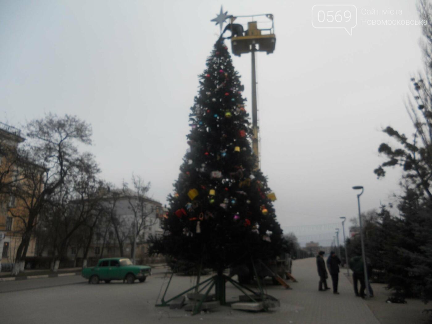 Новомосковськ прощається з новорічною красунею, фото-1