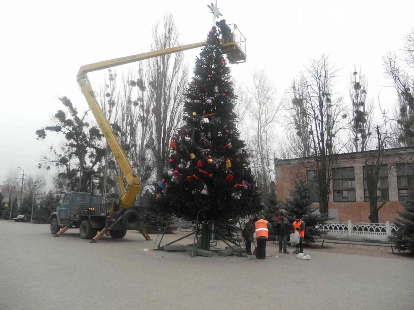 Новомосковськ прощається з новорічною красунею, фото-5