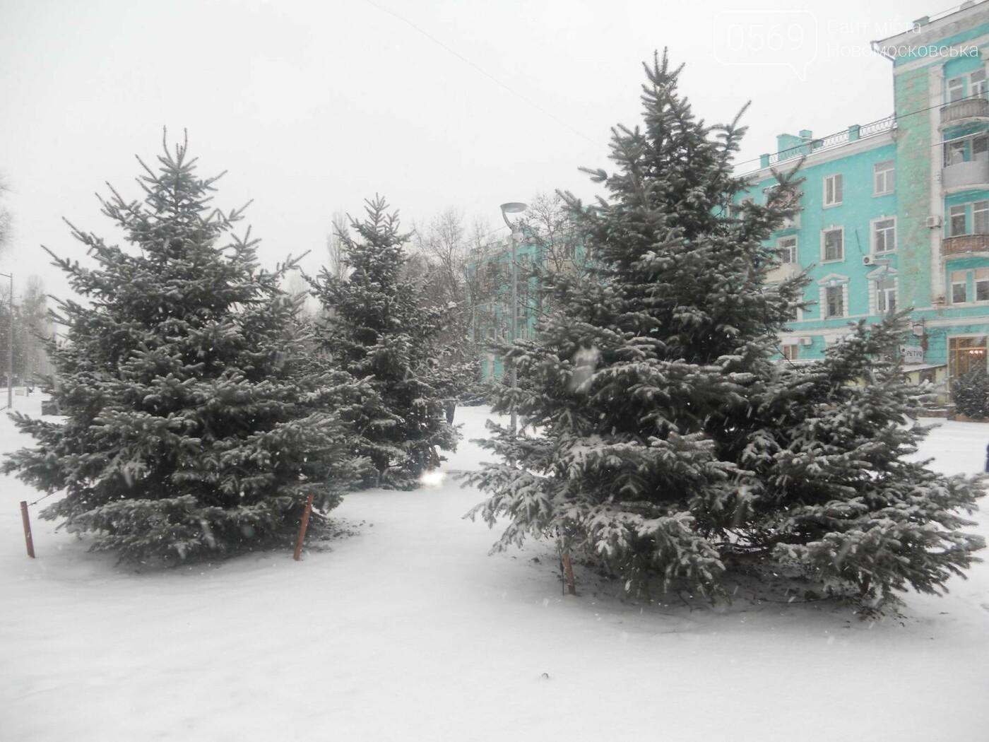 Новомосковськ засипає снігом, фото-2