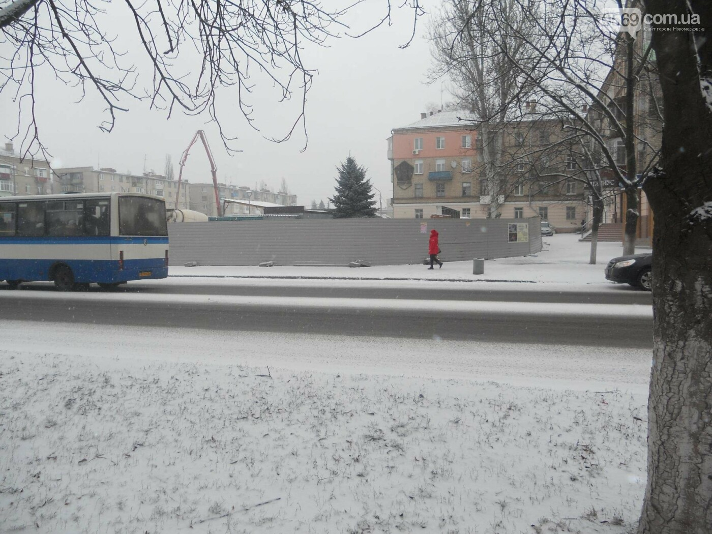 Новомосковськ знову засніжило, фото-2