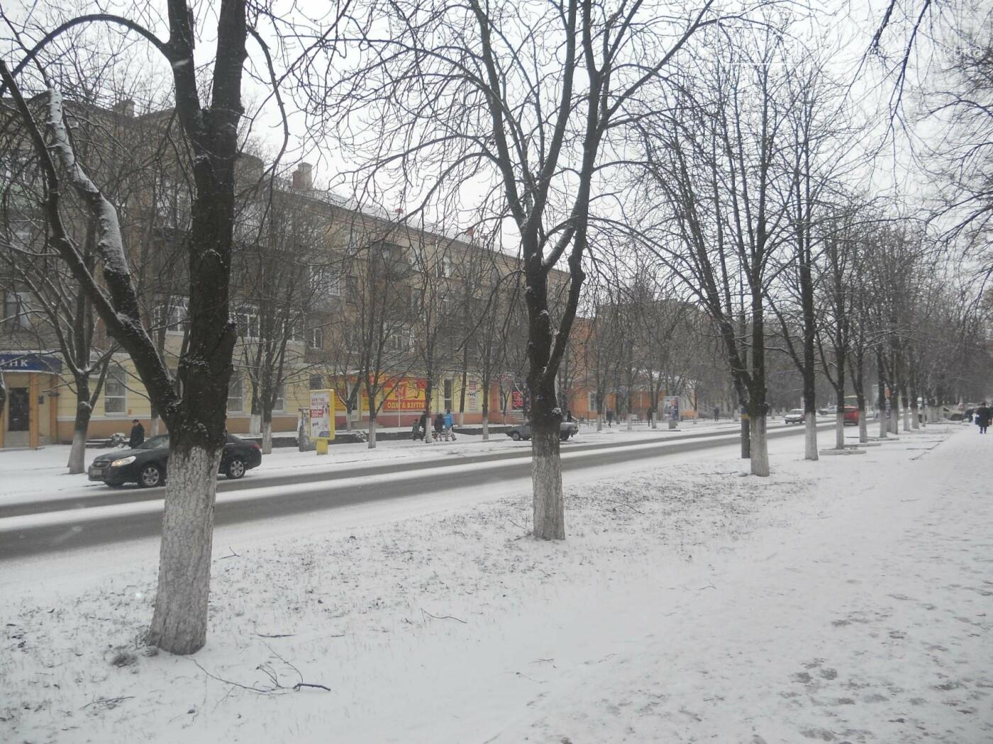 Новомосковськ знову засніжило, фото-7