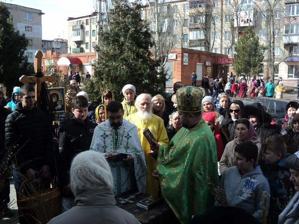 Як у Новомосковську вербу святили, фото-2