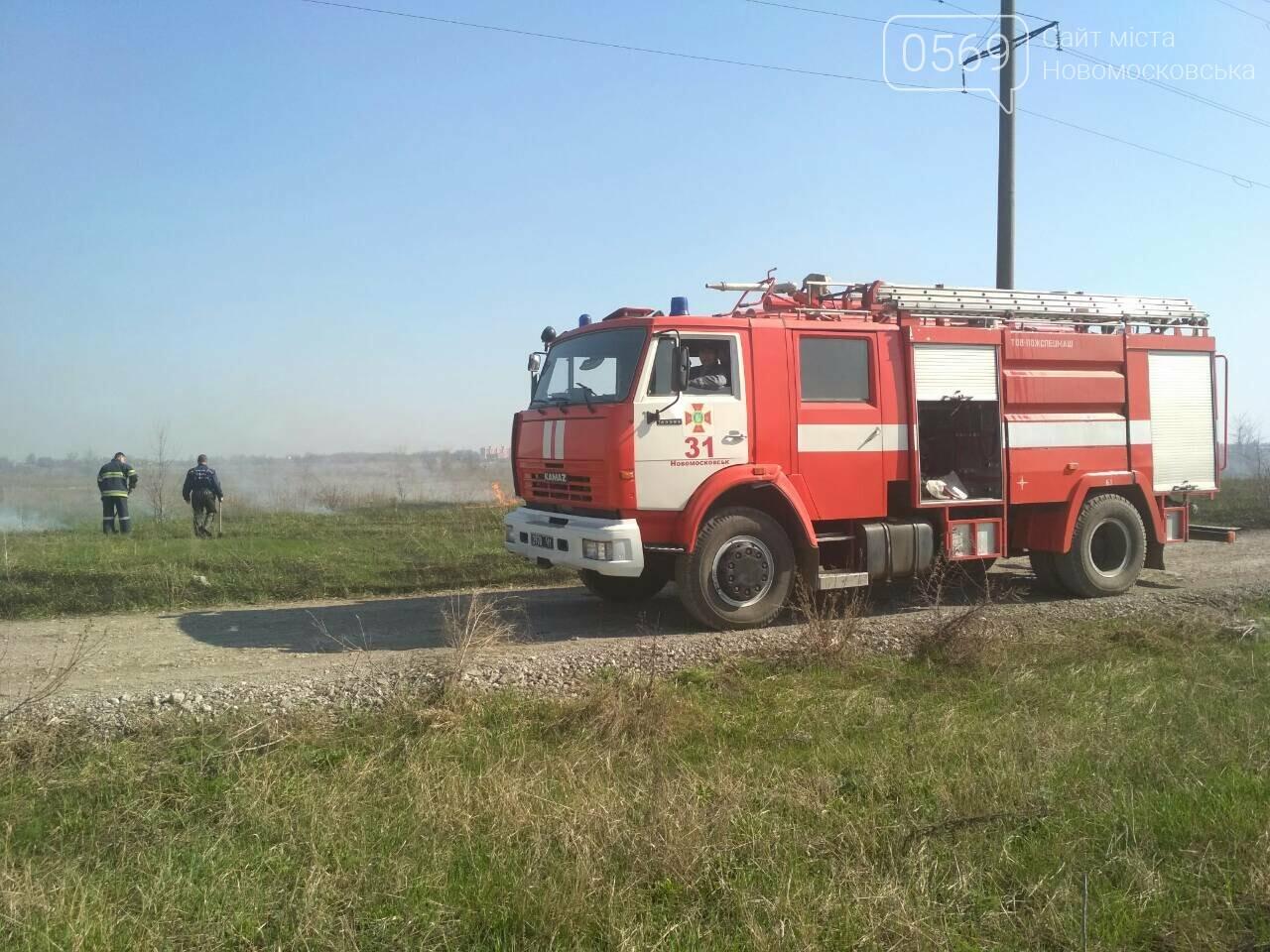 На Новомосковщині згорів гектар сухої трави, фото-1