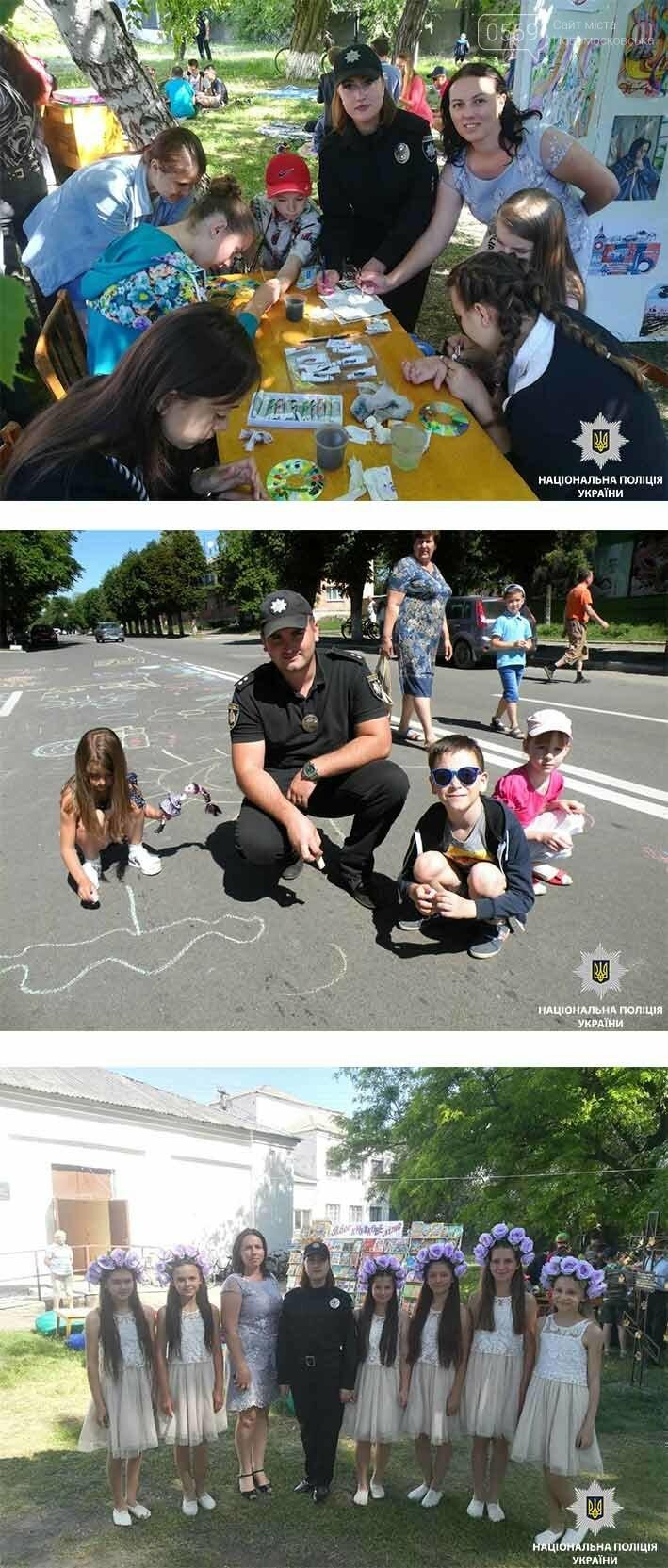 Новомосковські поліцейські малювали разом з малечею  , фото-1