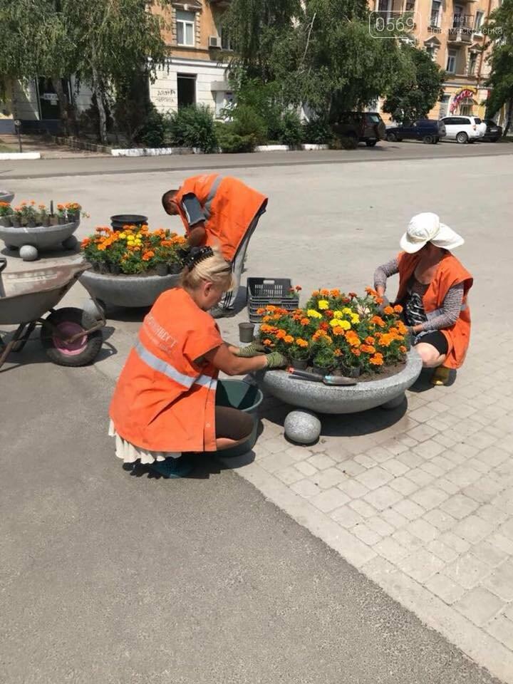 Главная площадь Новомосковска становится ярче и красочней, фото-1