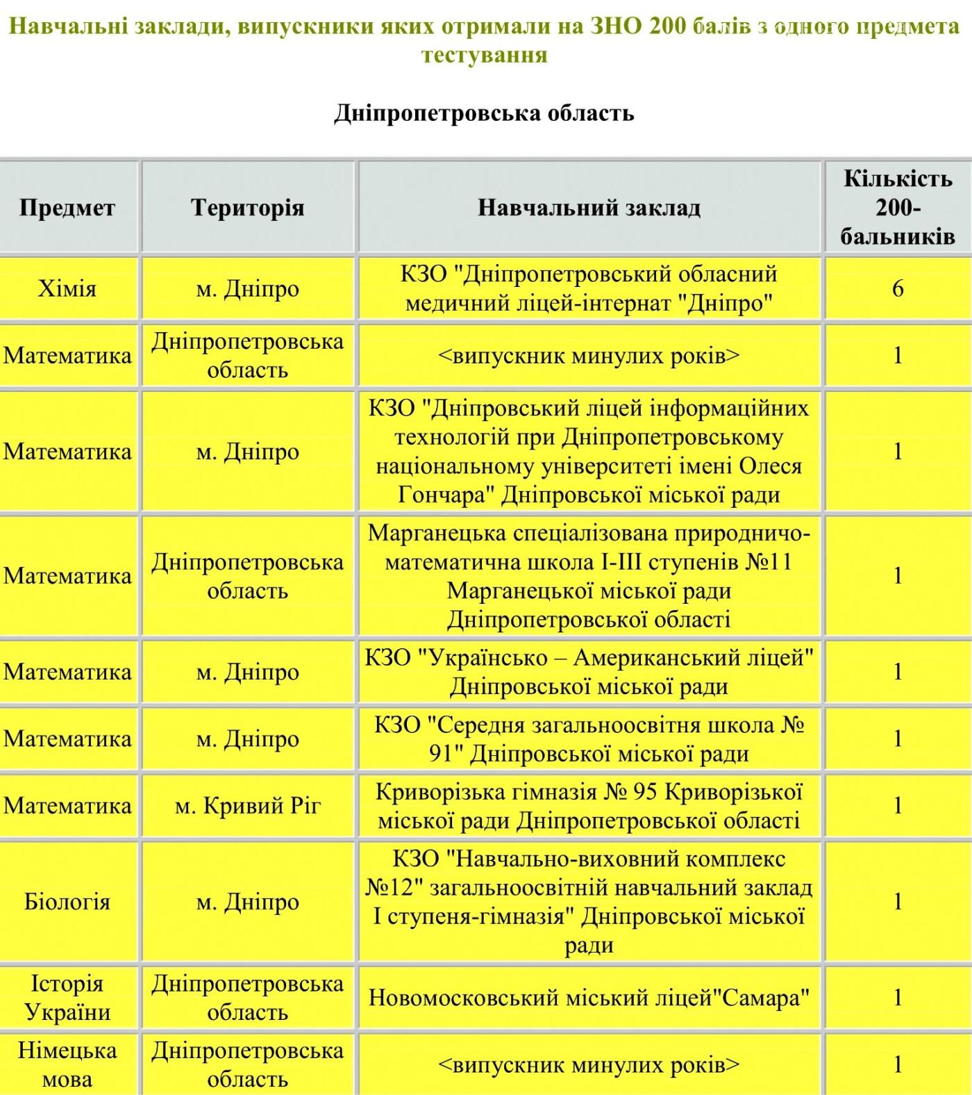 Выпускница Новомосковского лицея на ВНО-2018 получила максимальный бал, фото-1