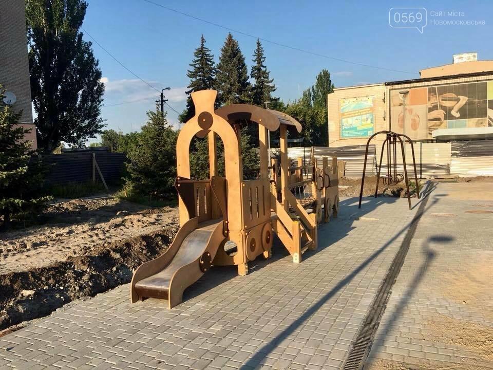 В Новомосковске продолжается реконструкция площади, фото-4