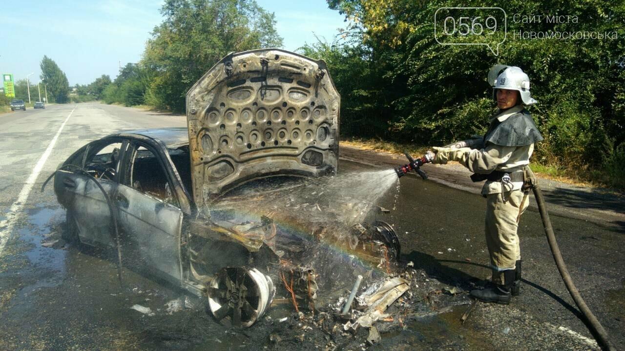 На Новомосковщині згорів автомобіль, фото-3