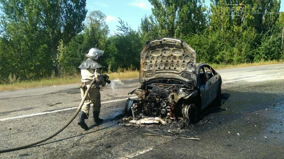 На Новомосковщині згорів автомобіль, фото-4