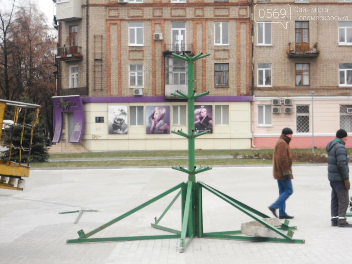 У Новомосковську розпочали встановлювати міську ялинку, фото-2