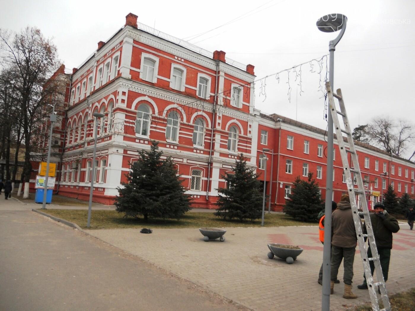 У Новомосковську розпочали встановлювати міську ялинку, фото-5