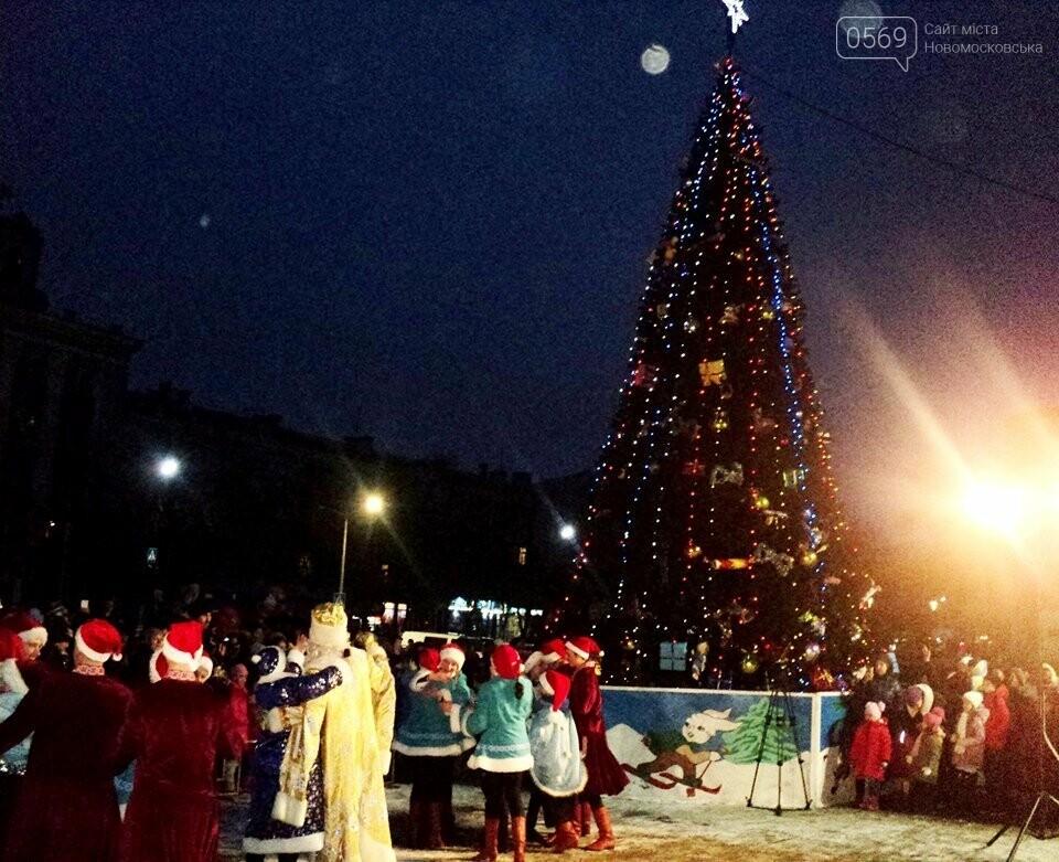 В Новомосковську урочисто відкрили новорічну ялинку, фото-2