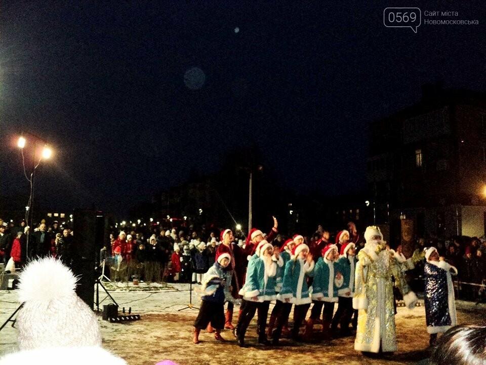 В Новомосковську урочисто відкрили новорічну ялинку, фото-3