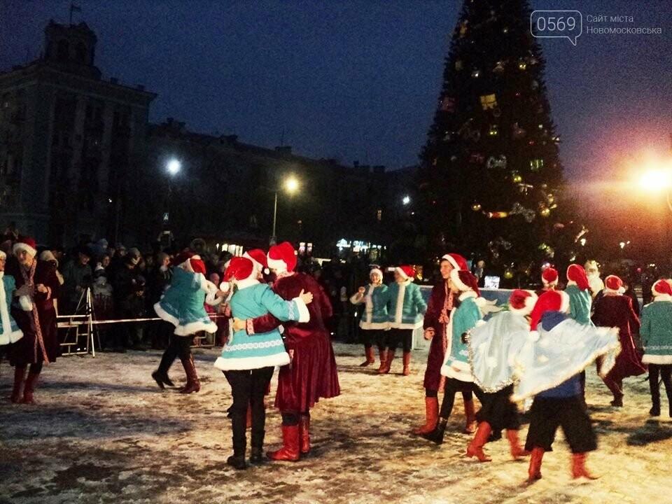 В Новомосковську урочисто відкрили новорічну ялинку, фото-4