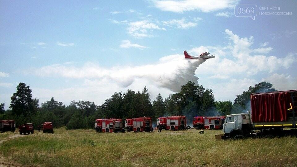 На Новомосковщині пройшли спільні навчання по гасінню пожеж на військових об'єктах, фото-1