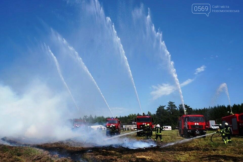 На Новомосковщині пройшли спільні навчання по гасінню пожеж на військових об'єктах, фото-2