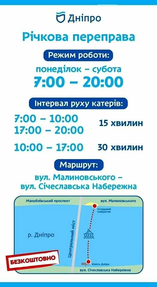 Новомосковцям допоможе потрапити в обласний центр безкоштовне річкове таксі, фото-1