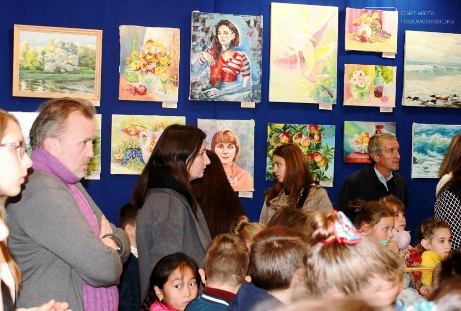У Новомосковському музеї відкрилася виставка художніх робіт (фото), фото-4