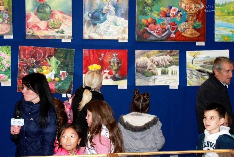 У Новомосковському музеї відкрилася виставка художніх робіт (фото), фото-7