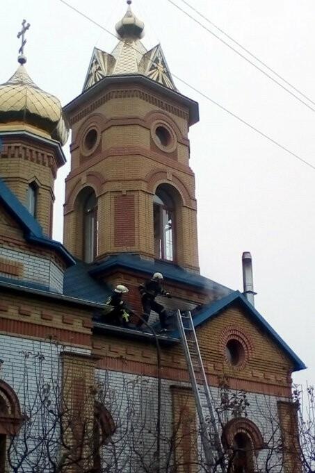 В селі Королівка Новомосковського району горів храм, фото-1