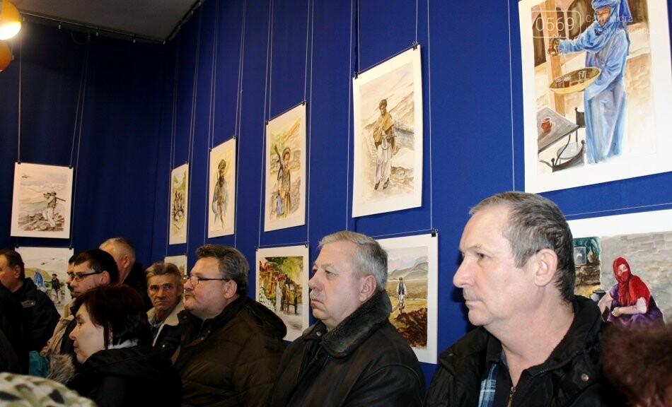 У Новомосковську відкрили персональну художню виставку учасника бойових дій в Афганістані, фото-1