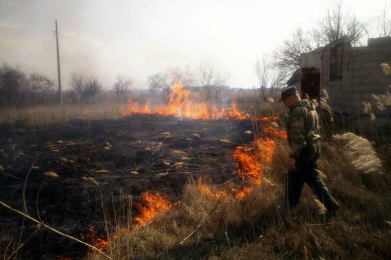 В Піщанській ОТГ вигоріло майже 5 гектарів сухостою: вогонь знищив і господарську споруду, фото-1