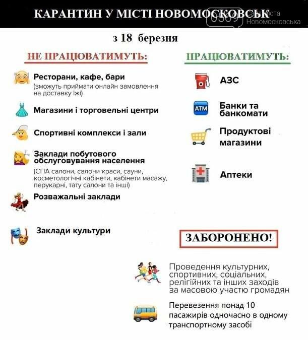 У Новомосковській міській раді наголошують на необхідності дотримання карантинних обмежень: що заборонено, фото-1