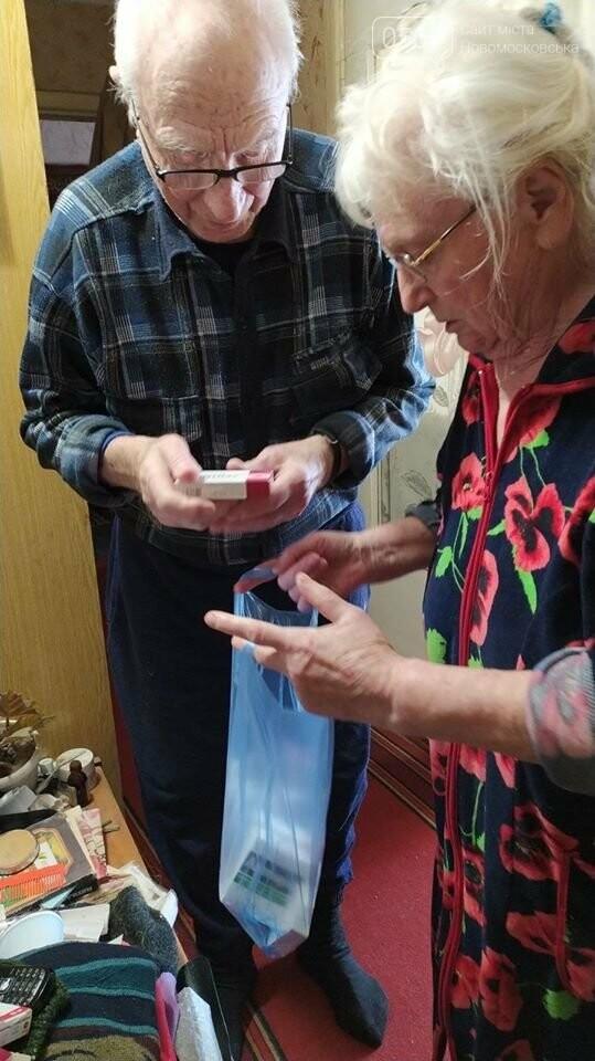 У Новомосковську літнім людям доставляють продуктові набори, ліки та засоби гігієни, фото-1