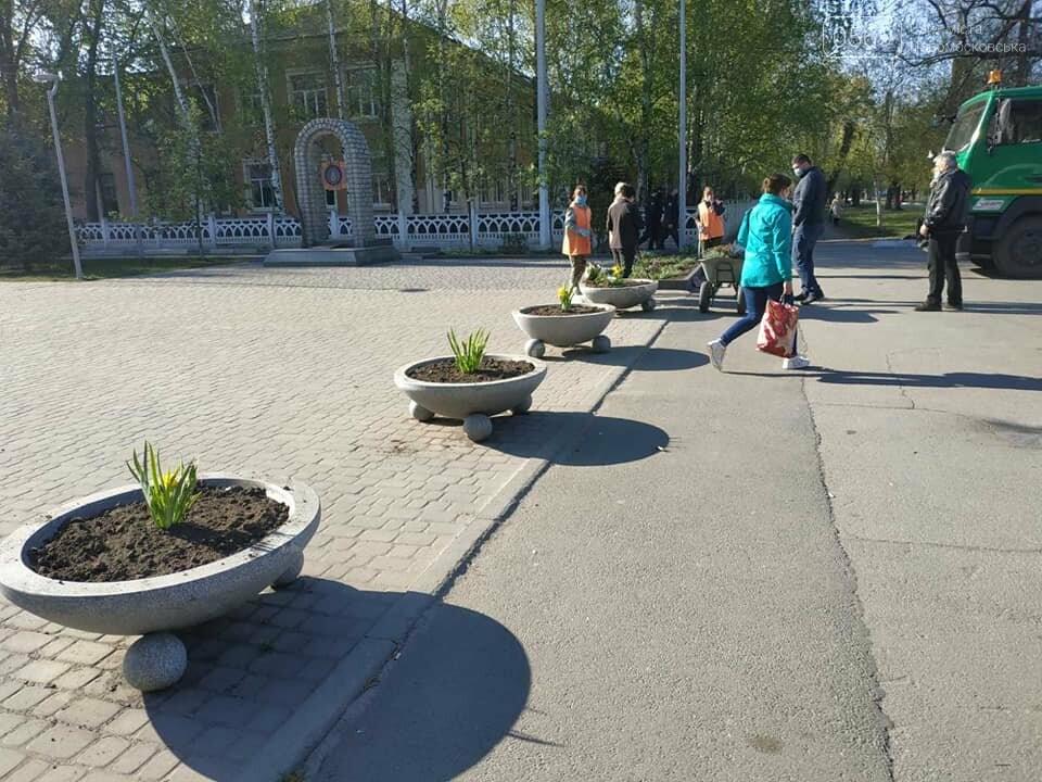 У Новомосковську тривають роботи з благоустрою міста, озеленення та ремонтів, фото-1