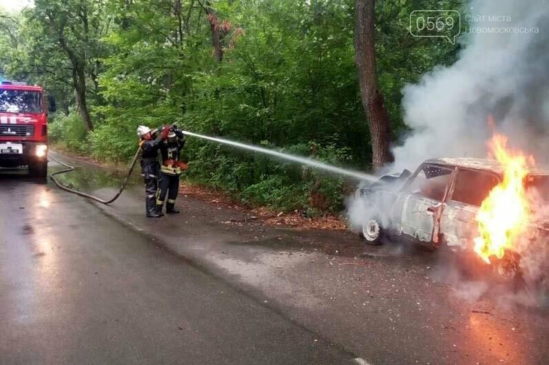 В селі Орлівщина Новомосковського району загорілася автівка, фото-1