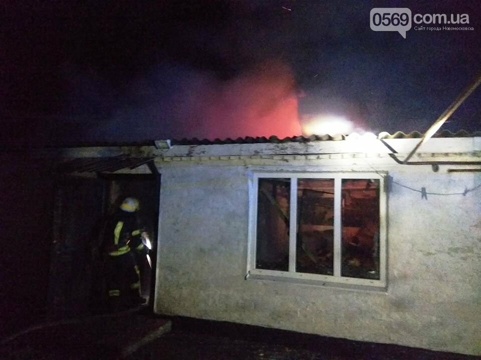 У селі Спаському Новомосковського району гасили пожежу в житловому будинку , фото-1