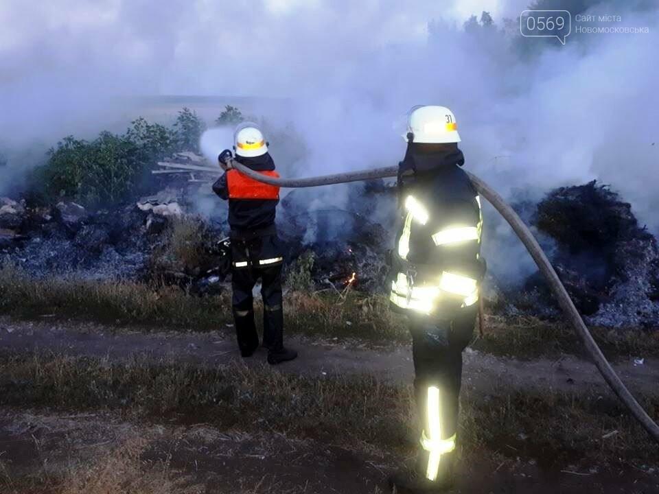 За Хащовим, що на Новомосковщині, згоріло сміттєзвалище, фото-3