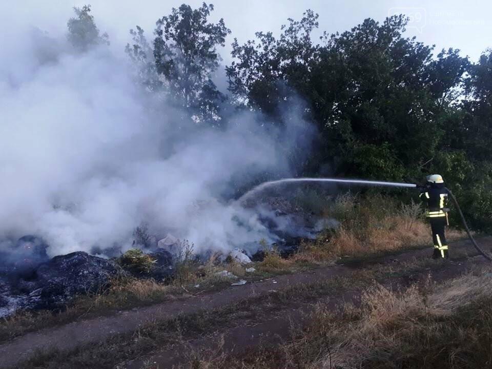 За Хащовим, що на Новомосковщині, згоріло сміттєзвалище, фото-2