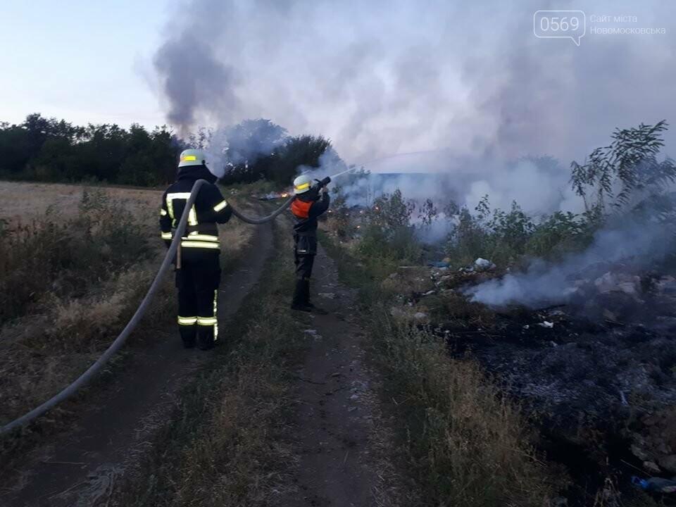 За Хащовим, що на Новомосковщині, згоріло сміттєзвалище, фото-1