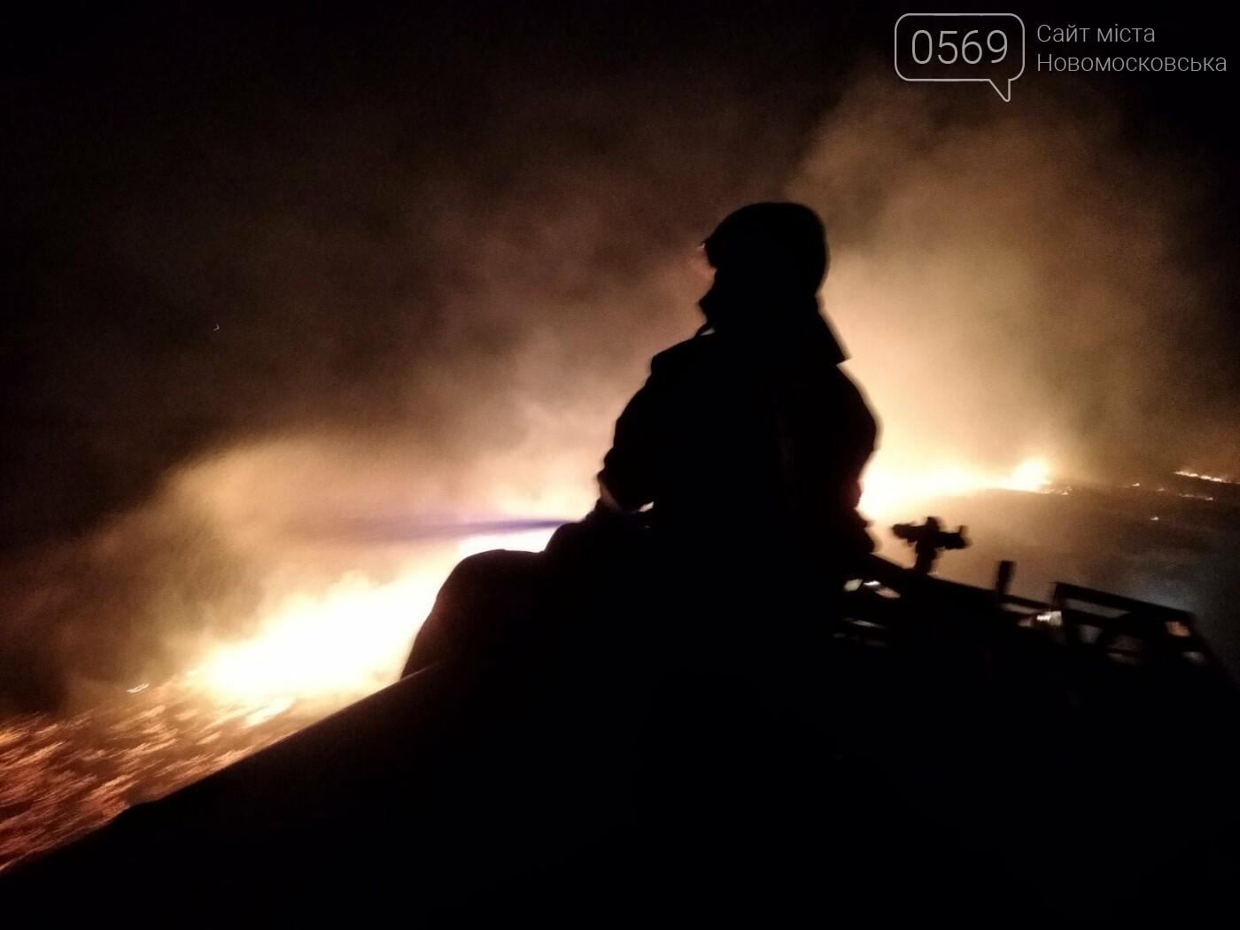 У ніч на 5 вересня більше сотні рятувальників і військових гасили під Новомосковськом масштабну пожежу, фото-3