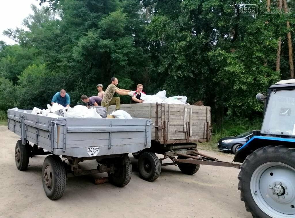 Молодь Знаменівки очистила від сміття частину лісового масиву Новомосковщини, фото-4