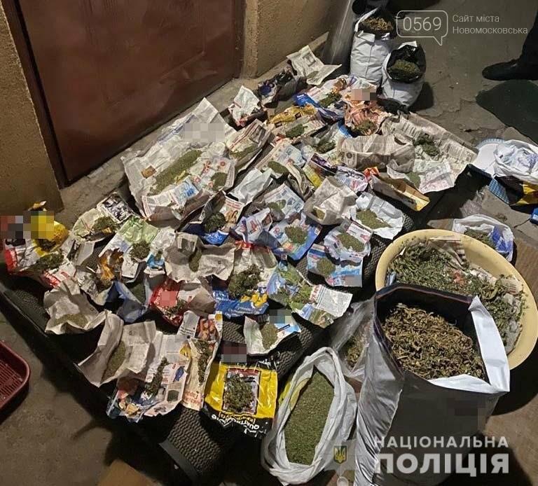 У Новомосковську під час обшуку поліцейські вилучили наркотики та зброю, фото-1