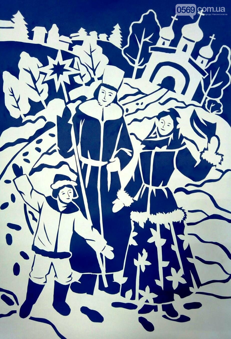 """У Новомосковській мистецькій школі пройшла виставка творчих робіт """"Різдвяні візерунки"""", фото-11"""